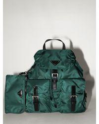 Prada Lvr Exclusive Nylon Canvas Backpack - Green