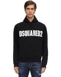 DSquared² ロゴプリント ジャージースウェットフーディ - ブラック