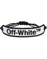 "Off-White c/o Virgil Abloh Bracciale ""Offwhite"" Macrame' - Bianco"