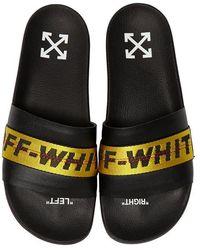 Off-White c/o Virgil Abloh Gummisandalen Mit Logo - Schwarz