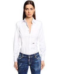 DSquared² - Cotton Poplin Shirt - Lyst