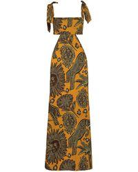 Johanna Ortiz Платье Из Органического Хлопка Поплин - Многоцветный