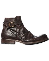 Shoto - Vintage Effect Washed Leather Boots - Lyst