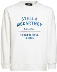 Stella McCartney - Sweat-shirt En Jersey De Coton Imprimé Logo - Lyst
