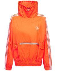 Stella McCartney Свитшот Оверсайз Из Хлопка И Техноматериала - Оранжевый