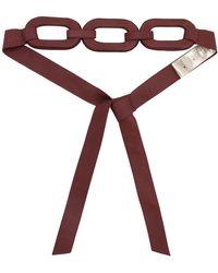 Johanna Ortiz Raices Pacificas Rose Leather Belt - Multicolour