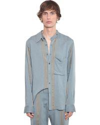 Ann Demeulemeester ビスコースシャツ - ブルー
