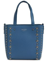Jimmy Choo Mini Pegasi Leather Top Handle Bag - Синий
