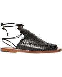 Daniele Michetti | Woven Leather Sandals | Lyst