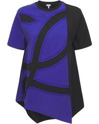 Loewe オーバーサイズコットンジャージーtシャツ - ブルー