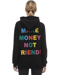 MAKE MONEY NOT FRIENDS Hoodie Aus Baumwolljersey Mit Logodruck - Schwarz