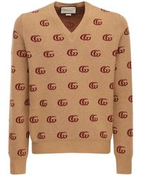 Gucci - Свитер С V-образным Вырезом Шерсти - Lyst