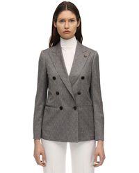 Lardini クールウールジャケット - グレー
