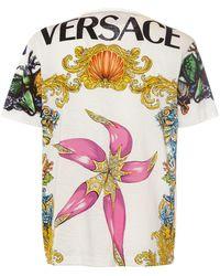 Versace Хлопковая Футболка С Принтом - Белый