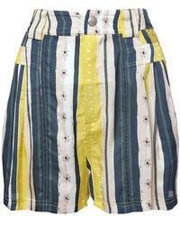 Koche Shorts De Viscosa Estampados - Azul
