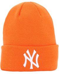 KTZ League Essential Cuff Knit Beanie Hat - Orange