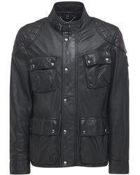 Belstaff Кожаная Куртка Fieldbrook 2.0 - Черный