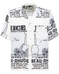 Rhude - Nice プリントシャツ - Lyst