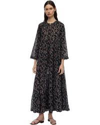 Yvonne S Hippy コットンボイルドレス - ブラック