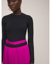Balenciaga クレーププリーツスカート - ピンク