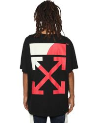 Off-White c/o Virgil Abloh - T-shirt Oversize In Jersey Di Cotone - Lyst
