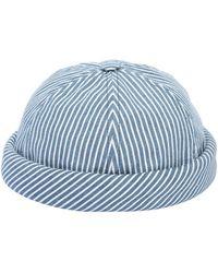 Beton Cire Handmade Striped Cotton Denim Sailor Hat - Blue