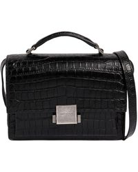 Saint Laurent - Bellechasse Croc Embossed Leather Bag - Lyst