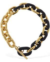Paco Rabanne Xl Link Short Chain Necklace - Metallic