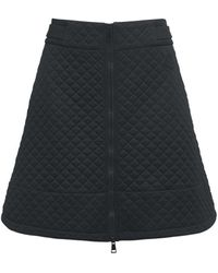 Moncler Quilted Jersey Mini Skirt - Black
