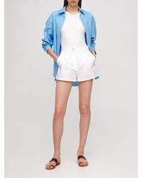 AG Jeans Shorts In Popeline Di Cotone - Bianco