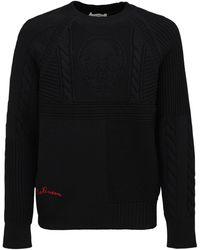 Alexander McQueen Skull ウールニットセーター - ブラック