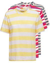 Marni - 3-pack コットンジャージーtシャツ - Lyst