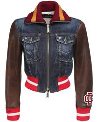 DSquared² デニムバーシティジャケット - ブルー