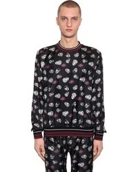 Dolce & Gabbana - Свитшот Из Шелковой Саржи - Lyst