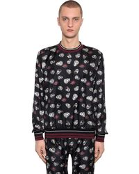 Dolce & Gabbana Свитшот Из Шелковой Саржи - Черный