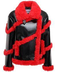 Stand Studio Пальто Из Искусственной Овчины Melendy - Красный