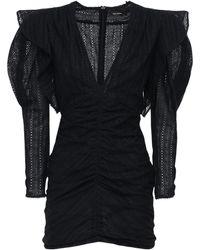 Isabel Marant Getya コットンルーシュドレス - ブラック