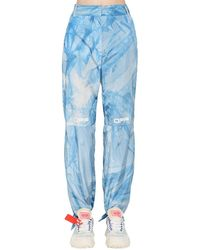 Off-White c/o Virgil Abloh Nylonhose Im Tie Dye - Blau