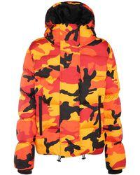 DSquared² Piumino Reversibile In Nylon Camouflage - Arancione