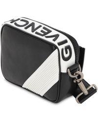 Givenchy Mc3 Reverse Logo Leather Crossbody Bag - Black