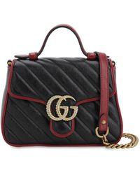 Gucci - Gg Marmont Torchon ミニレザーバッグ - Lyst