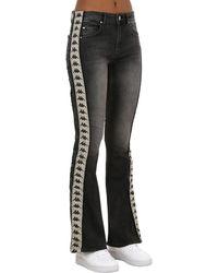 Kappa Authentic Wide Leg Cotton Denim Jeans - Black