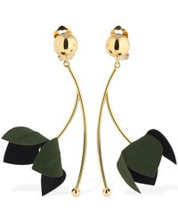 Marni Bicolor Flora Clip-on Pendant Earrings - Mehrfarbig