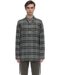 Faith Connexion Over Mix Cotton Tweed Shirt Jacket - Gray