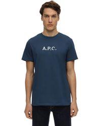 A.P.C. - コットンジャージーtシャツ - Lyst