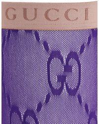 Gucci Socken Aus Gg-jacquard - Lila