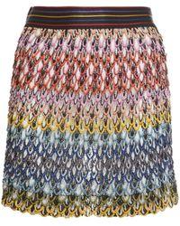 Missoni Мини-юбка Из Вискозы С Разрезом - Многоцветный