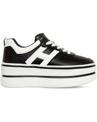 Hogan Sneakers De Piel 70mm - Negro