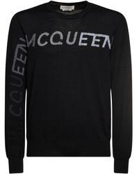 Alexander McQueen Шерстяной Свитер С Логотипом - Черный