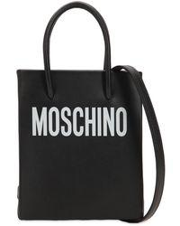 Moschino - レザー スモール ロゴプリントショルダーバッグ - Lyst